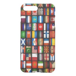 Capa iPhone 8 Plus/7 Plus bandeiras de países diferentes