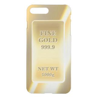Capa iPhone 8 Plus/7 Plus Bar de ouro fino brilhante do tijolo do ouro do