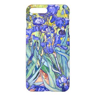 Capa iPhone 8 Plus/ 7 Plus Belas artes florais do vintage das íris de Vincent