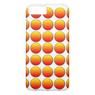 Capa iPhone 8 Plus/7 Plus Bolinhas alaranjadas