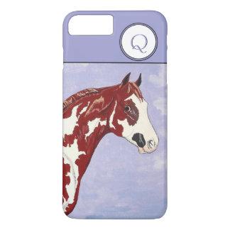 Capa iPhone 8 Plus/7 Plus Cabeça de cavalo Monogrammed da pintura de Overo