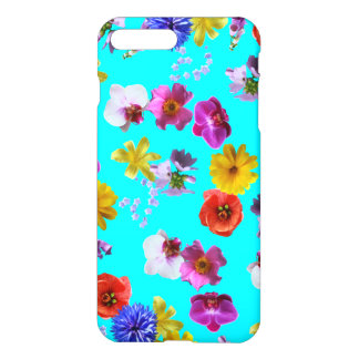 Capa iPhone 8 Plus/ 7 Plus Caixa azul floral