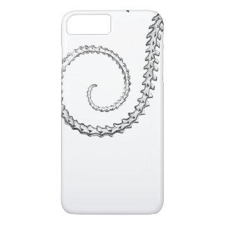 Capa iPhone 8 Plus/7 Plus Caixa de esqueleto da cauda do lagarto do vintage