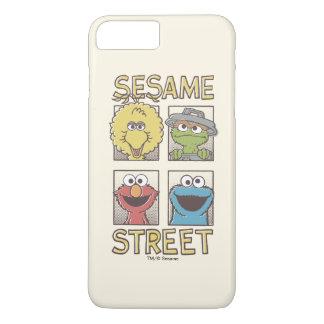 Capa iPhone 8 Plus/7 Plus Caráter de StreetVintage do sésamo cómico