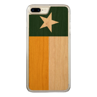 Capa iPhone 8 Plus/ 7 Plus Carved Verde e bandeira de Texas do ouro