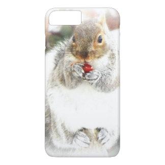 Capa iPhone 8 Plus/7 Plus Caso do iPhone 7 do esquilo do inverno