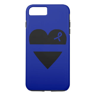 Capa iPhone 8 Plus/7 Plus Caso positivo do iPhone 7 finos do coração de Blue