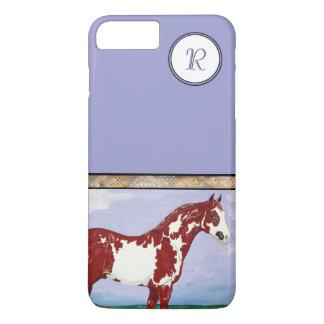 Capa iPhone 8 Plus/7 Plus Cavalo Monogrammed da pintura de Overo