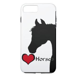 Capa iPhone 8 Plus/7 Plus Cavalos do coração III (branco)
