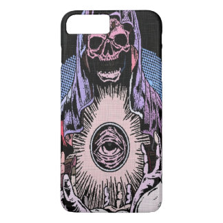 Capa iPhone 8 Plus/7 Plus Ceifeira clássica da morte do crânio de Skully
