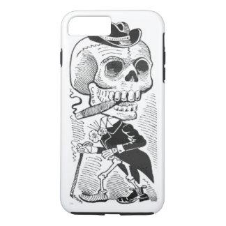 Capa iPhone 8 Plus/7 Plus Charuto de fumo de esqueleto de Posada do vintage