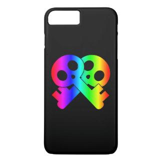 Capa iPhone 8 Plus/7 Plus Chaves de esqueleto cruzadas crânio