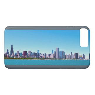 Capa iPhone 8 Plus/7 Plus Cidade panorama da skyline de Chicago, Illinois