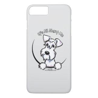 Capa iPhone 8 Plus/7 Plus Cinzas brancas do Schnauzer IAAM