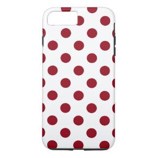 Capa iPhone 8 Plus/7 Plus Círculos das bolinhas do vermelho carmesim