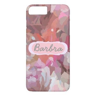 Capa iPhone 8 Plus/7 Plus Colagem cor-de-rosa, seu nome no caso positivo do