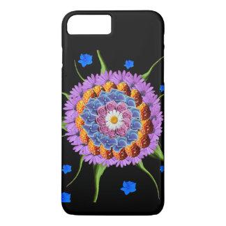 Capa iPhone 8 Plus/7 Plus Colagem da flor da mandala
