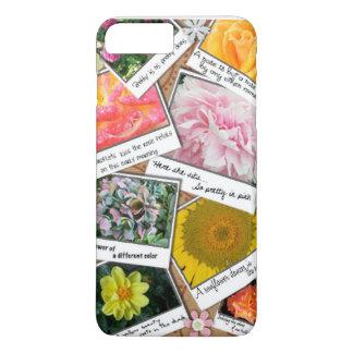 Capa iPhone 8 Plus/7 Plus Colagem das flores