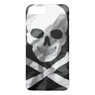 Capa iPhone 8 Plus/7 Plus Crânio e bandeira dos Crossbones