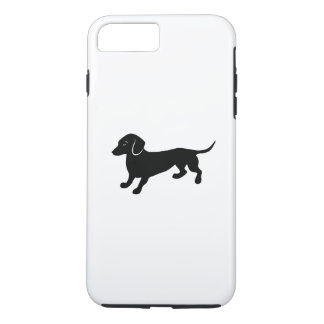 Capa iPhone 8 Plus/7 Plus Dachshund pequeno bonito