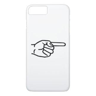 Capa iPhone 8 Plus/7 Plus Dedo da mão