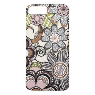 Capa iPhone 8 Plus/7 Plus Design floral feminino de Mehndi
