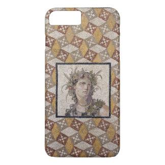 Capa iPhone 8 Plus/7 Plus Detalhe de um painel de assoalho romano do mosaico