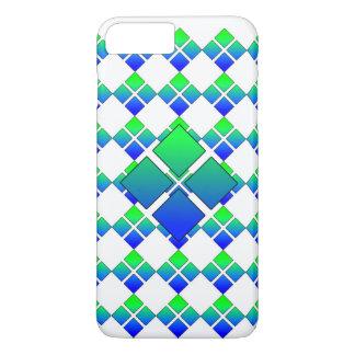 Capa iPhone 8 Plus/7 Plus Diamante 3D do verde azul