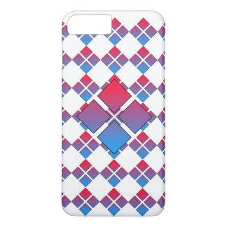 Capa iPhone 8 Plus/7 Plus Diamante azul vermelho 3D