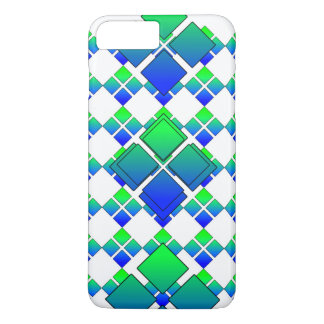Capa iPhone 8 Plus/7 Plus Diamante demasiado 3D do verde azul