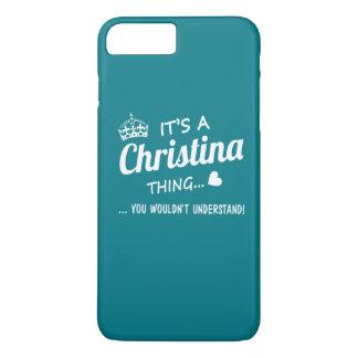 Capa iPhone 8 Plus/7 Plus É uma coisa de Christina
