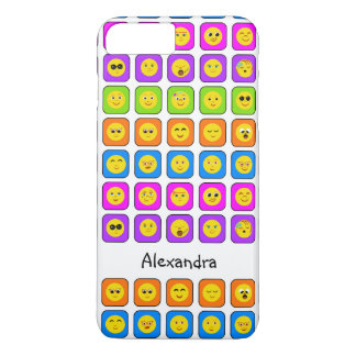 Capa iPhone 8 Plus/7 Plus Emoticons felizes do smiley face do arco-íris