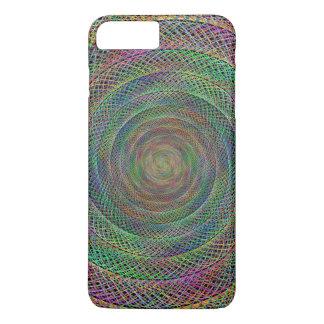 Capa iPhone 8 Plus/7 Plus Espiral multicolorido do fractal
