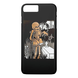 Capa iPhone 8 Plus/7 Plus Esqueleto que tende a sepultura