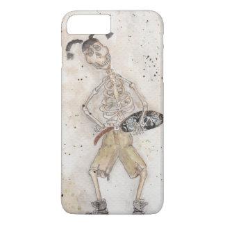Capa iPhone 8 Plus/7 Plus Esqueleto Skateboarding