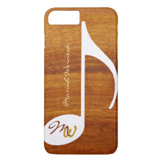 Capa iPhone 8 Plus/7 Plus estilo gráfico da madeira da música