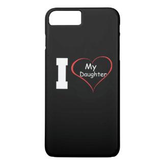 Capa iPhone 8 Plus/7 Plus Eu amo minha filha