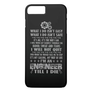 Capa iPhone 8 Plus/7 Plus Eu sou um engenheiro até mim morro