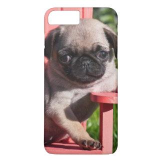 Capa iPhone 8 Plus/7 Plus EUA, Califórnia. Filhote de cachorro do Pug que