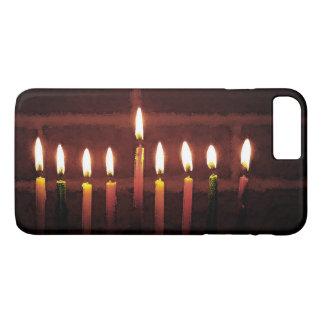 Capa iPhone 8 Plus/7 Plus Festival de Hanukkah do caso positivo do iPhone 7