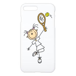 Capa iPhone 8 Plus/ 7 Plus Figura fêmea jogador de ténis da vara