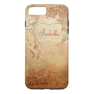 Capa iPhone 8 Plus/7 Plus Floral do ouro do vintage personalizado