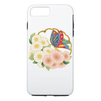 Capa iPhone 8 Plus/7 Plus Flores de borboleta