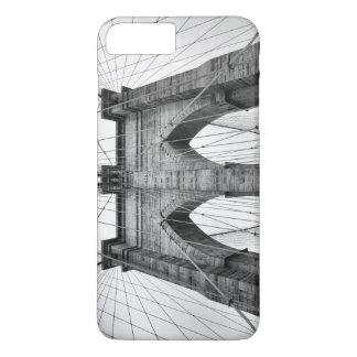 Capa iPhone 8 Plus/7 Plus Foto da ponte de Brooklyn em preto e branco
