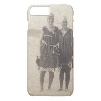 Capa iPhone 8 Plus/7 Plus Fotografia do vintage do 1920 das belezas da praia