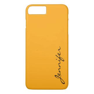 Capa iPhone 8 Plus/7 Plus Fundo escuro da cor da tangerina