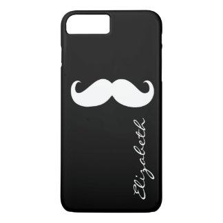 Capa iPhone 8 Plus/7 Plus Fundo preto liso do bigode