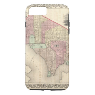 Capa iPhone 8 Plus/7 Plus Georgetown e a cidade de Washington