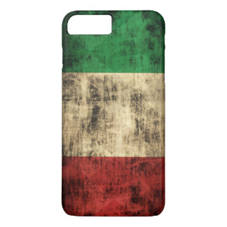 Capa iPhone 8 Plus/7 Plus Grunge italiano do vintage da bandeira