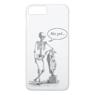Capa iPhone 8 Plus/7 Plus Hey caixa do esqueleto do vintage da menina